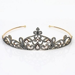 Head Pieces 8 Ct Natural Certified Diamond 925 Sterling Silver Bridal Hair Accessories